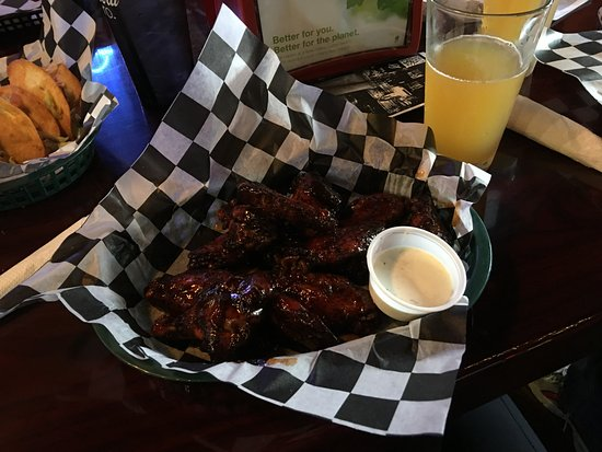 Saint Joseph, MO: Zombie wings - probably the best wings I've ever had.