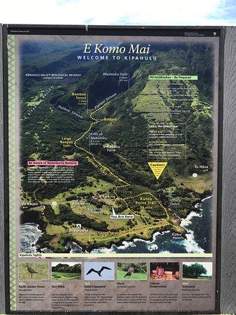 Pipiwai Trail: map of the trail