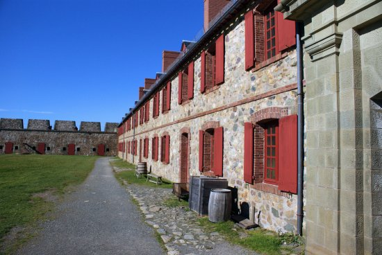 Louisbourg, Kanada: interior of the fortress