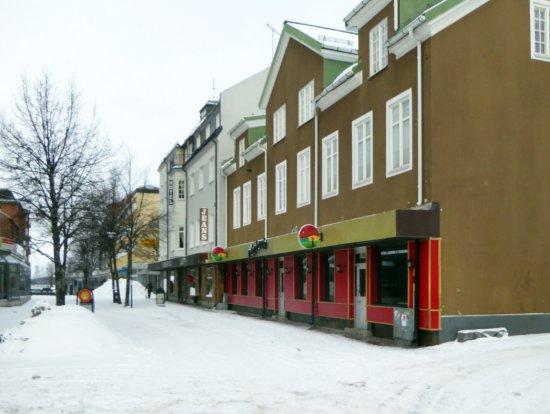 Ludvika, Szwecja: Karlavägen i vinterskrud