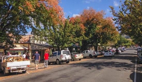 Yackandandah Main Street 9.30 am late autumn