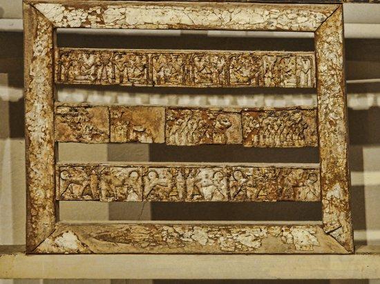 tete de lit recouverte divoire  Picture of Cyprus Museum