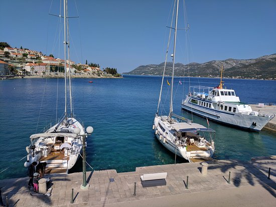 Korcula Island, Croatia: Boats at the old city