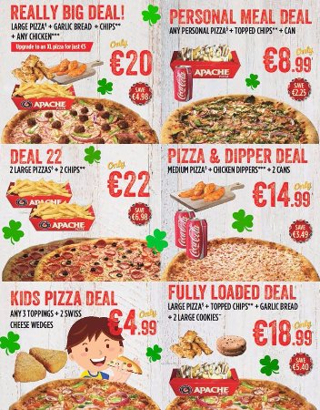 Our Deals Picture Of Apache Pizza Monaghan Tripadvisor