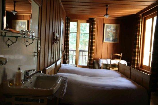 Evolene, Szwajcaria: Hotel Hermitage chambre année '30