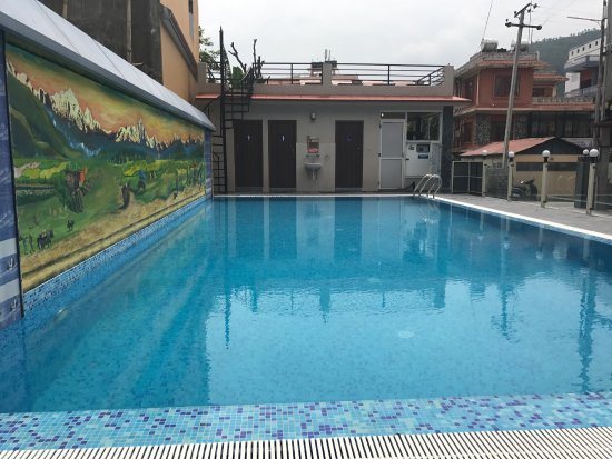 Nice Swimming Pool For Recovering After Trekking Picture Of Hotel Iceland Pokhara Tripadvisor