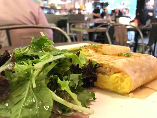 Rookery: salmon wrap with scrambled eggs