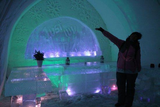 Luvattumaa - Levi Ice Gallery: Levi Ice Gallery, entrance