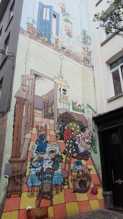 Tintin Mural Painting: Exemple de fresque murale