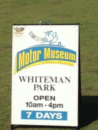 Whiteman, Australien: Motor museum opening times
