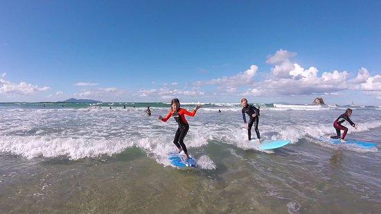 Mangawhai, Nueva Zelanda: Surfing like a pro !
