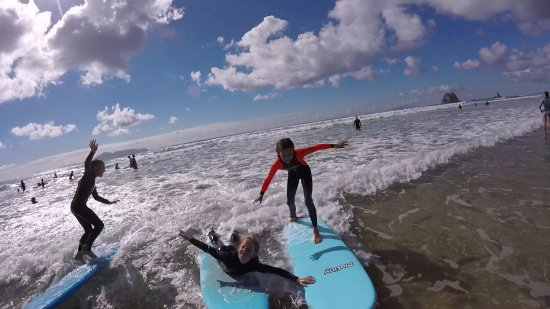 Mangawhai, New Zealand: Surf time