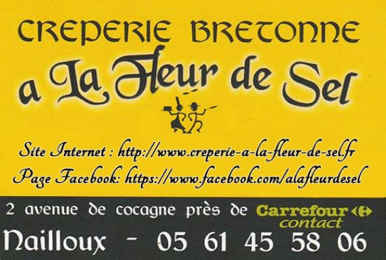 Неллу, Франция: La crêperie A la fleur de sel vous propose des spécialités bretonnes, des plats faits maison, de