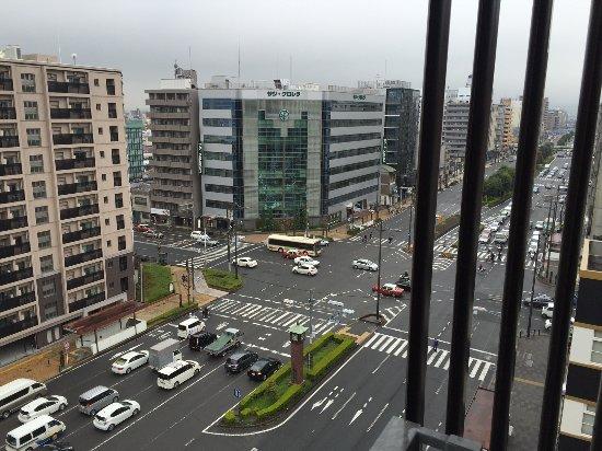 Citadines Karasuma-Gojo Kyoto: View from Room Facing Street. can get noisy at night