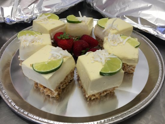 Windsor, Australien: Catering available - Have you tried our Lime & Coconut Cheesecake