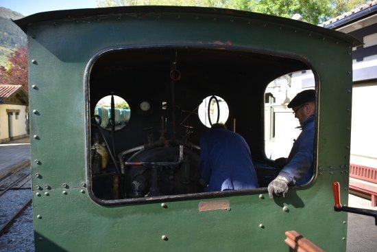 Azpeitia, Spain: Vieja locomotora de vapor.