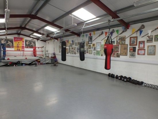 Denbigh, UK: Our sporting memorabilia - displayed in a fully functional boxing gymnasium !
