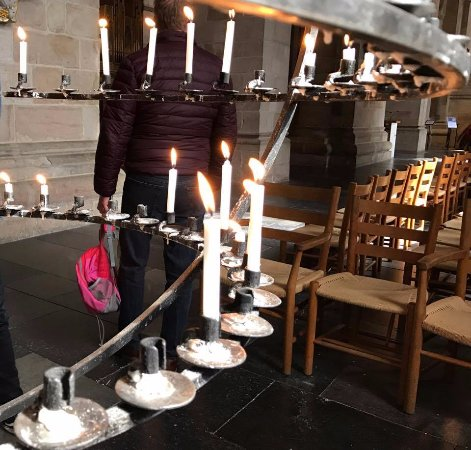 Lund, Sverige: We lit a candle in the memory of a loved one.