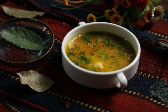 Azerbaijani cuisine dushbere soup picture of cay evi for Azerbaijani cuisine