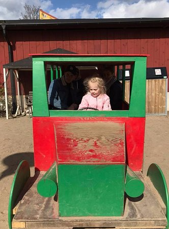 Lund, İsveç: This bus is in the play area. Our youngest took the whole family for a ride.