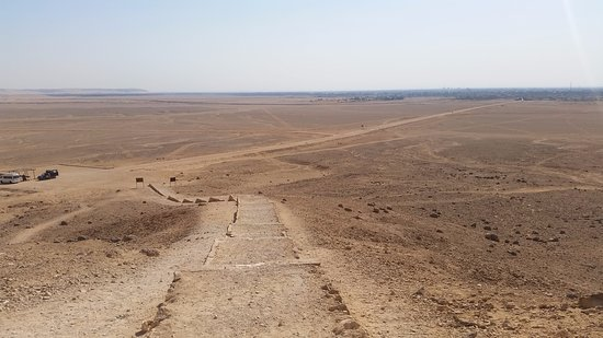Stunning view from stairs to tombs to Tell el-Amarna