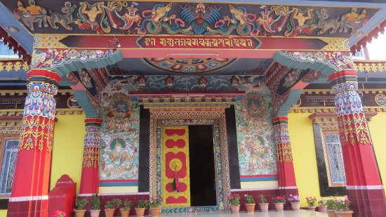 Bomdila, India: Colourful Door to the Almighty