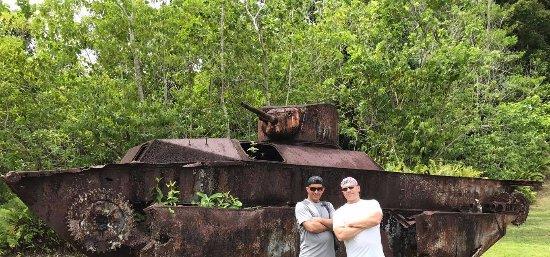 Peleliu, Palaos: Relics on land.