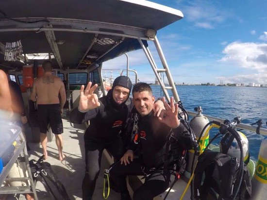Micronesian Divers Association: Nelson and I getting ready for our dives.