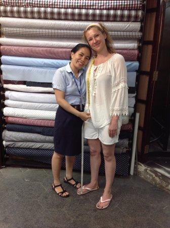 A Dong Silk Tailors: Van and I at Dong Silk