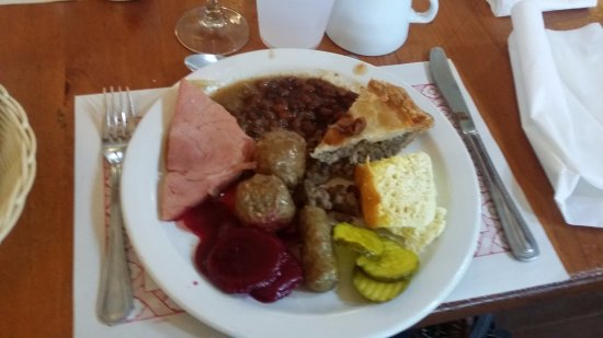 Rigaud, Canada: Ham, sausage, meat balls, tourtiere, beans, omelet, beets, pickles...