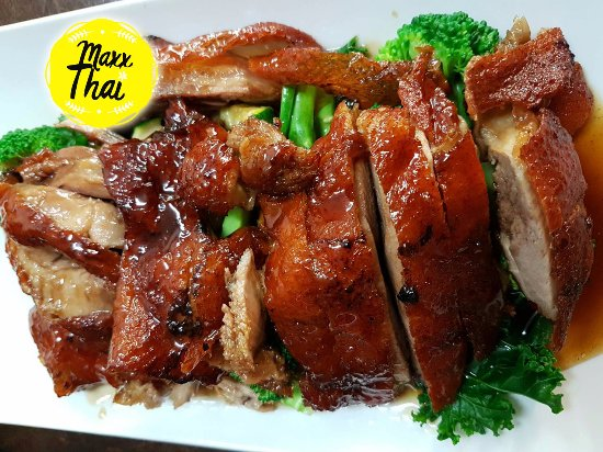 Gunnedah, Australia: Our special, Duck with Plum sauce with steamed vegs!