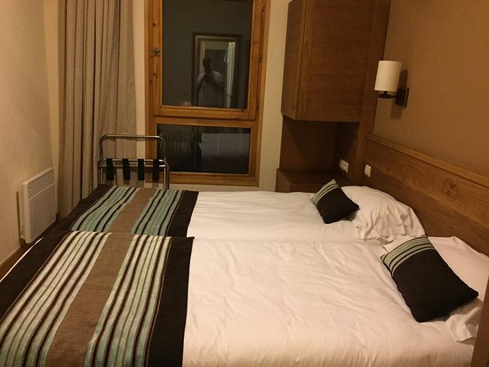 Flaine, Frankrig: Twinned room