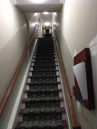 Third floor stairs from front door