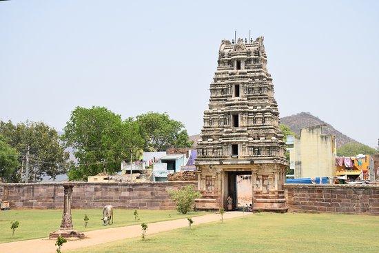 Guntur District, India: Main Gopuram of the Soumyanathaswamy temple