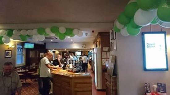 Romford, UK: The return of B.T sports in our pub