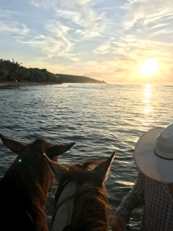 Frederiksted, St. Croix: Sunset with Cowboy Steve