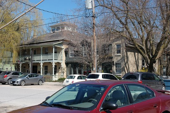 Bayfield, Canada: View of the front of the Inn. The original old hotel on the left and the reception area on right