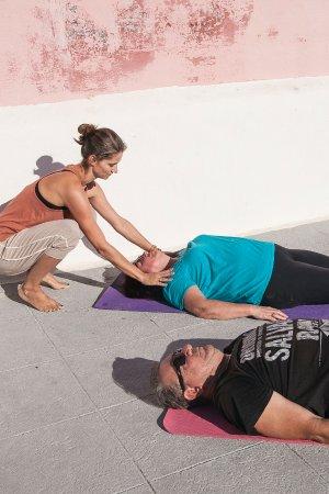 Santorini Yoga With Veronika: Savasana, the best pose!