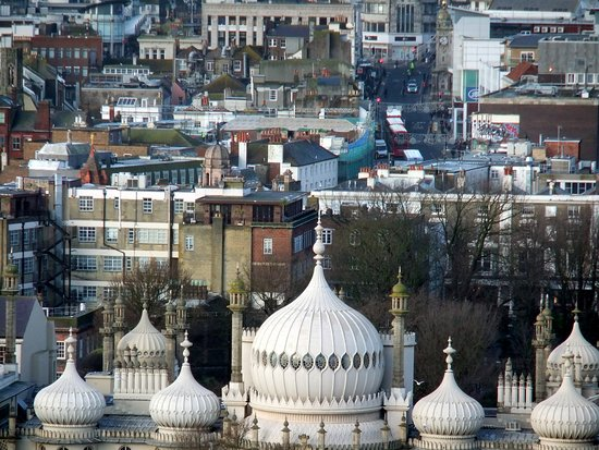 Μπράιτον Εντ Χοβ, UK: Aerial view of minarets of Royal Pavilion  Brighton © Robert Bovington