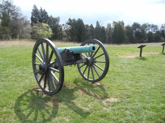 Manassas, VA: original artillery positions from 1st battle