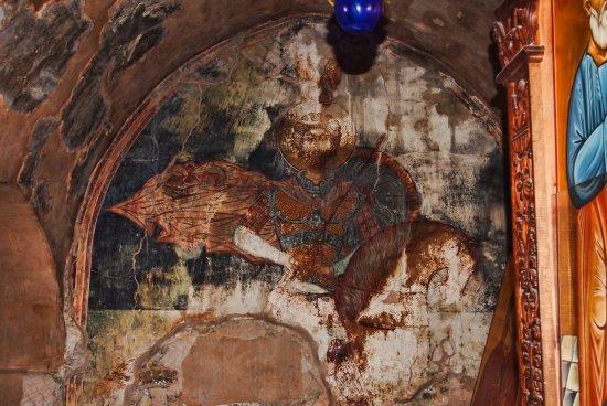 Kolossi, Chipre: fresque murale