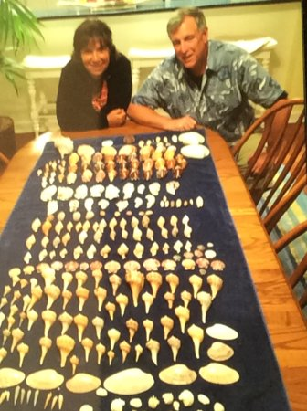 Goodland, FL: Our friends with their shells that picked with Reel Kind Shelling