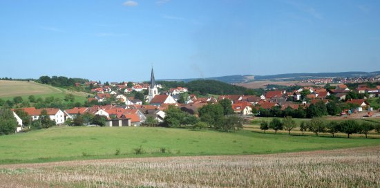 Windshausen, Tyskland: Blick über den Ort