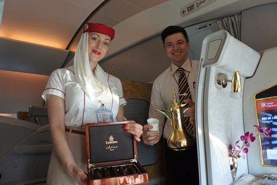 Arabic coffee to welcome you on board - Picture of Emirates