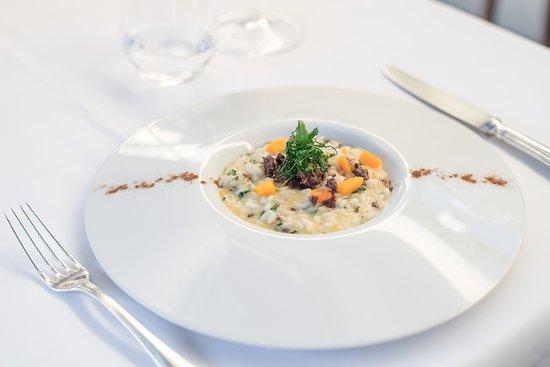 Caluso, Italy: risotto con zucca e capriolo disponibile anche su fanceat