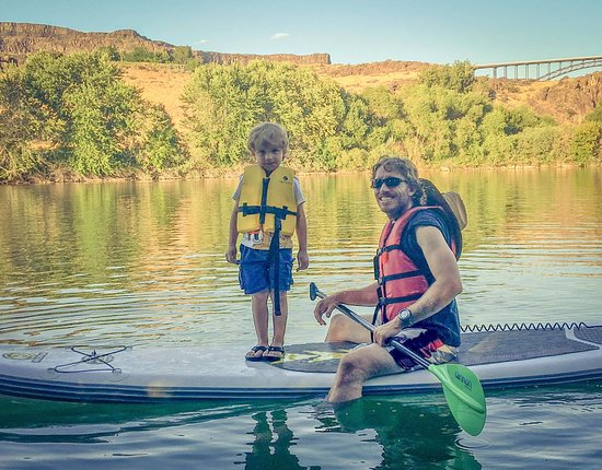 Twin Falls, ID: Enjoying an inflatable SUP board on the Snake River