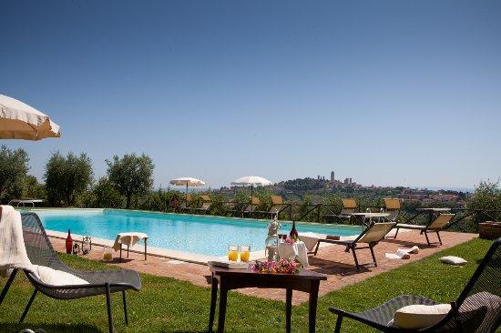 Podere Sant'Elena: vista dalla piscina