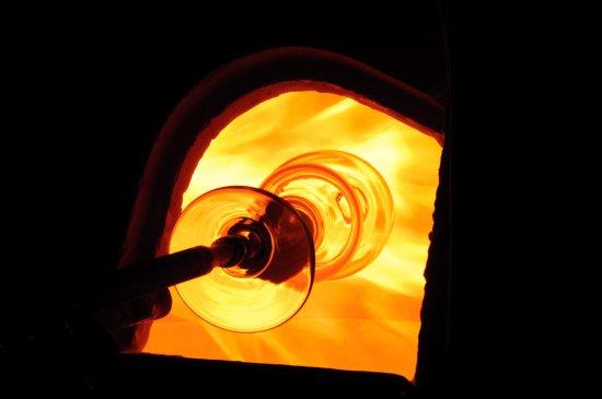 Karasjok, Norvège : The furnace - the heart of Boble glasstudio <3