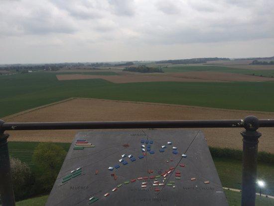 Waterloo, Belçika: overlooking the battlefield