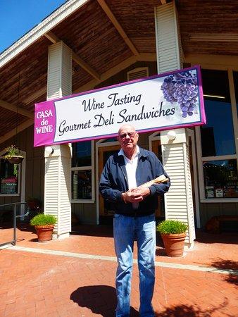 Hollister, CA: We bought wine at Casa de Wine